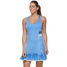 Women's FILA Sport® Pleated Hem Tennis Dress, Blue (Navy)