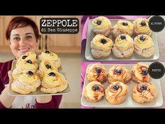 Zeppole s. Giuseppe al forno Italian Cake, Italian Desserts, Mini Desserts, Italian Recipes, Gourmet Recipes, Sweet Recipes, Cake Recipes, Dessert Recipes, Biscotti Cookies