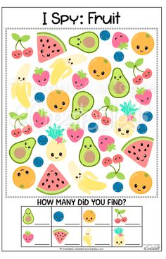 Free Printable Fruit I Spy Game - Free Kids Creatables