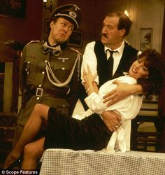 Allo, allo - Lt Gruber, René Artois and Vicky Michelle British Comedy Series, British Tv Comedies, Vicki Michelle, Dad's Army, The Best Series Ever, British Humor, Comedy Tv, Television Program, Old Tv