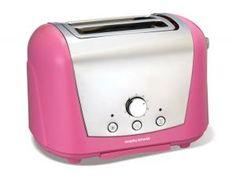 Pink Morphy Richards 2 Slice Toaster