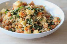 Kale and Roasted Squash Quinoa Salad Recipe from http://eatingcleanrecipes.com/ © FOOD FIX, LLC #vegan #recipe