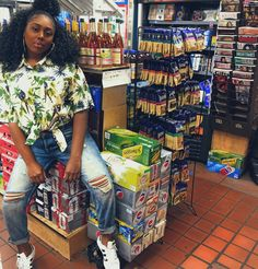 Corner Store Photography Photoshoot Inspiration, Photoshoot Ideas, Girl Outfits, Cute Outfits, Best Selfies, Liquor Store, Gas Station, Black People, Teeth Whitening