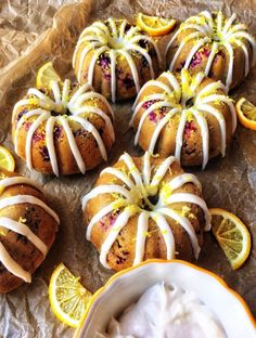 Mini Vanilla Lemon Huckleberry Bundt Cakes are the perfect light summer treat. This healthy recipe is an easy gluten free and dairy free recipe Gluten Free Cakes, Gluten Free Baking, Gluten Free Desserts, Dairy Free Recipes, Chocolate Avocado Brownies, Chocolate Covered Bananas, Strawberry Oatmeal Bars, Blueberry Crumble Bars, Lemon Desserts