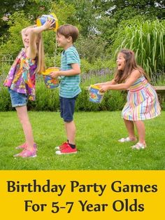 Birthday Party Games For Year Olds - Kids Party Ideas Boy Party Games, Girls Birthday Party Games, Bridal Party Games, Outdoor Party Games, Birthday Activities, Slumber Party Games, Mermaid Party Games, Hawaiian Party Games, Summer Birthday Parties