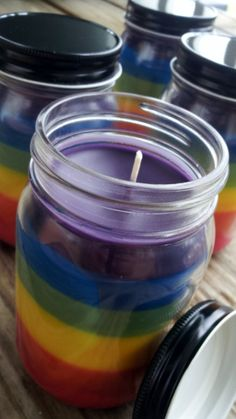 Clean Scented Jar Candle Five Scented Chakra Rainbow Jar Candle 16 oz Hand Poured Small Batch. $19.99, via Etsy.