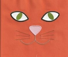 Cat Face Applique 3 Sizes! | Halloween | Machine Embroidery Designs | SWAKembroidery.com Applique for Kids