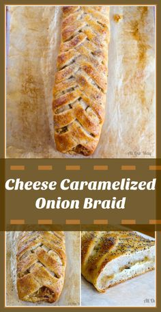 Impressive Cheese and Caramelized Onion Braid! Love this! Would be absolutely delicious and is Incredibly EASY to make! Made using store brought or homemade pizza dough!! Great appetizer or alongside a soup or salad!