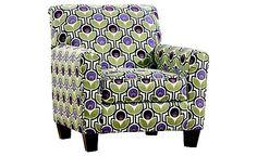 Danielle - Eggplant Accent Chair  Ashley Furniture