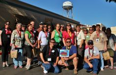 2013 PNW Mouse Treks Walt Disney Studios Tour Group Photo - Water Tower