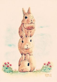 Find images and videos about art, animals and illustration on We Heart It - the app to get lost in what you love. Funny Bunnies, Cute Bunny, Rabbit Illustration, Illustration Art, Rabbit Art, Honey Bunny, Bunny Art, Wow Art, Jolie Photo