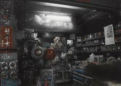 三月的雲飄過靜靜的店 陳志和 攝影 48.5x60.7x3.6cm x1p