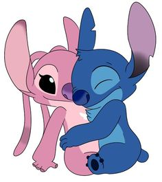 Angel & Stitch - from Lilo and Stitch Cartoon Wallpaper Iphone, Disney Phone Wallpaper, Cute Cartoon Wallpapers, Cute Wallpaper Backgrounds, Lelo And Stitch, Lilo Y Stitch, Cute Stitch, Kawaii Disney, Disney Kunst