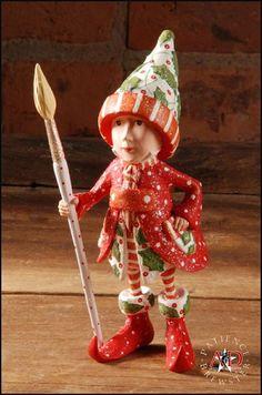 2012 Patience Brewster Krinkles, Vixen's Painter Elf Ornament