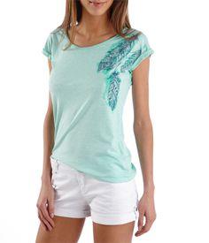 T-shirt femme fantaisie de plumes - Camaieu