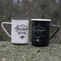 Set Of Gentlemen's Hardware Enamel Mugs