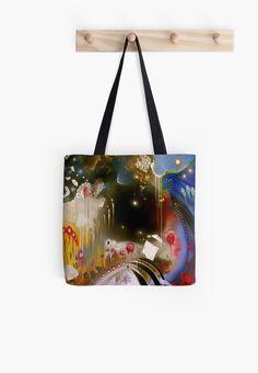 Dancing in the Void Tote Bags (Rock Art Series) by Cherie Roe Dirksen Art Series, Pink Floyd, Rock Art, The Rock, Ipad Case, Laptop Sleeves, Pouch, Shoulder Bag, Dance