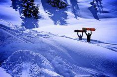 waist deep snow and a selfmade kicker! Totally cool!
