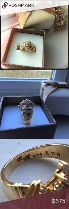 14KT Diamond ring 14KT DIAMOND RING SIZE 6 stunning ring 1CT. Comes in a box 14kt Gold Jewelry Rings