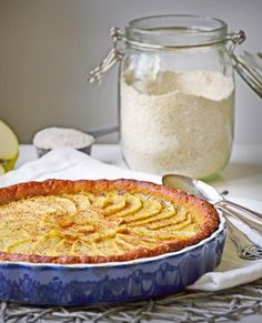 Healthy sugarfree apple tart