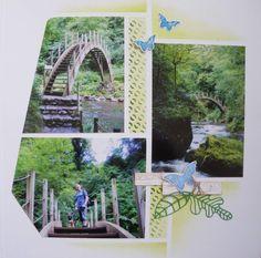 Toujours en Auvergne, voici le sentier des gorges de la Jordanne! MAGIQUE et BUCOLIQUE!!!! Gorges de la Jordanne, Gabarit Vanua, Duo Fidji, Azza Matériel Azza utilisé : - Page Reportage &Blanc& - Gabarit &Vanua& issu du &Duo Fidji& - Gabarit Texture &Feuilles&...