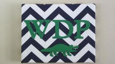Initialed Fabric Canvas by SuSuzTreasures on Etsy, $20.00
