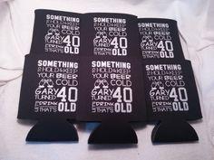 40th birthday koozies design 1004725730 by odysseycustomdesigns #BirthdayKoozies #40thbirthday