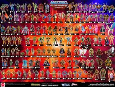 Vintage Toys | MOTU He-Man Masters of the Universe Action Figure Identification Poster