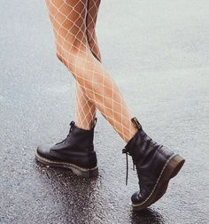 """3,544 Likes, 38 Comments - PRINCESS POLLY ❨✨ (@princesspollyboutique) on Instagram: """"Festival essentials! ★ White Large Fishnet Stockings + Dr. Martens 1460 Nappa Boots // Instashop…"""""""