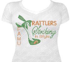 Custom FAMU Rattlers Rhinestone Heel by DbdafBlingDesigns on Etsy