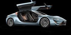 Industrial Art Design - Art Elements Line, Form, Space. Art Principles Rhythm & movement, Proportion - Electric car powered by Salt Water