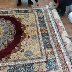 Packing handmade silk carpet