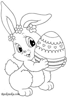 """Free Printable Easter Bunny Coloring Pages from Easter Coloring Pages. Easter is a celebration of Christians who commemorate the event of Jesus Christ being revived (or """"resurrected""""). Easter celebrations are popular wit. Easter Coloring Pages Printable, Easter Coloring Sheets, Easter Bunny Colouring, Bunny Coloring Pages, Pokemon Coloring Pages, Halloween Coloring Pages, Coloring Pages For Kids, Coloring Books, Kids Coloring"""