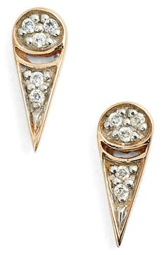ginette ny 'Mrs. Joe' Diamond Stud Earrings available at #Nordstrom