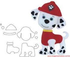 Resultado de imagem para molde da patrulha canina de eva