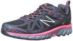 New Balance Women's WT610V4 Trail Shoe, Black/Pink