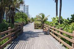 Take a stroll down the boardwalk along the Westgate South Beach Resort.