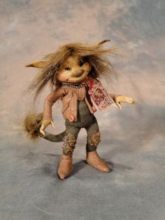 Tiny Troll - Armatured Figure by Wendy Froud