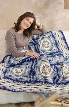 Artisan Throw Free Crochet Pattern from Red Heart Yarns