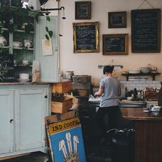 The vintage frames at Finch's Tea and Coffee House in Vancouver. | 31 Coffeeshops And Cafés You Wish You Lived In