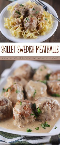 Flavorful and satisfying, this skillet version of much-loved Swedish meatballs is simple and quick and really, really yummy.