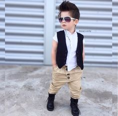 15 ideas for baby boy clothes mommy kids fashion Little Boy Outfits, Toddler Outfits, Baby Boy Outfits, Kids Fashion Boy, Toddler Fashion, Outfits Niños, Kids Outfits, Baby Boy Dress, Boys Wear