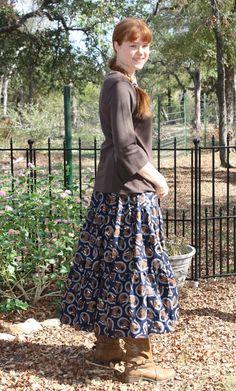 Very Full 3tiered Ladies Skirt Western Skirt by FeminineDress, $39.00