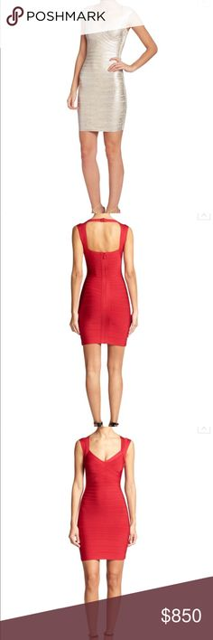 Authentic $1,050 Herve Leger Bandage tank dress S Authentic Herve Leger dress I personally bought at Saks Fifth for $1,050. Gorgeous wrap dress. Size small. Work to a venture capitalist function in Palo Alto then had dry cleaned. Perfect condition. I have more pics listed with details of the tags. Only selling because I don't have the bust to pull this dress off. Herve Leger Dresses