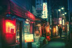 Tokyo by Night Tokio bei Nacht Photo taken by Masashi Wakui Neon Photography, Street Photography, Night Street, Tokyo Night, Cyberpunk City, Japan Street, Neon Nights, Tokyo Streets, Japanese Streets