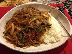 2014.4.7 점심. 잡채밥