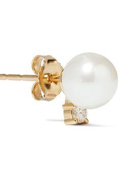 18-karat Gold Diamond Earrings - one size Jemma Wynne 3wGkB
