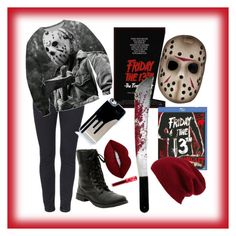 """""""Friday the 13th"""" by xcastielx on Polyvore featuring Lime Crime and Halogen"""
