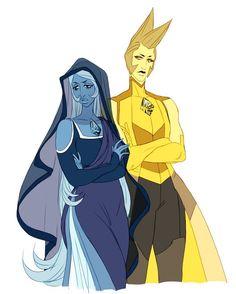 Blue and Yellow Diamond