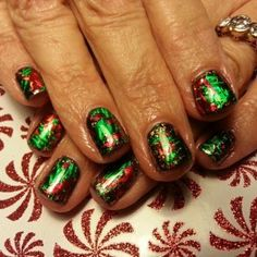 Christmas nail art foil